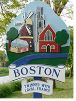 Boston twinned with Laval. France